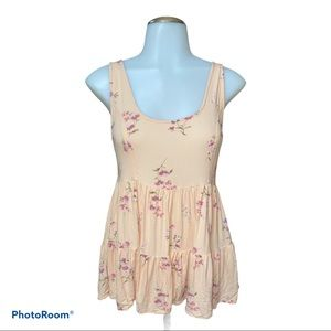 American Eagle Floral Baby Doll Top